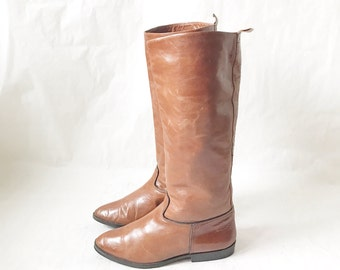 Vintage Joan and David Tall Leather Riding Boots . Size 7