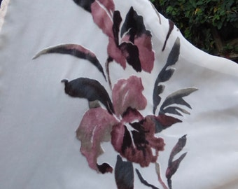 Velvet Orchids Kimono Wrap - 1930s Style Glamour and Prettiness