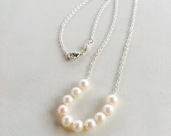 Pearl Necklace, Add a Pearl Necklace, Childs Pearl Necklace, Add On Pearl Necklace, Silver Pearl Necklace