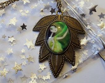 Steampunk Inspired Gothic Absinthe Girl Necklace
