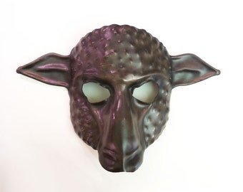 Sheep Leather Mask Black with Brown