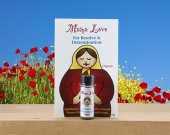 Resolve and Determination, Aromatherapy with Flower Essences, Organic, Reiki-Infused Bach Flowers for Strength and Patience