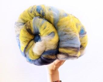 Wobbly Night - Merino Wool Art Batt 3.0oz