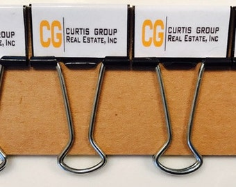 Business Logo Binder Clips Money Clips Perfect Gift - Set of 6