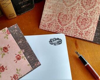 Stationery Letter Set Vintage Remember Me Sentiment 10 sheets and 5 coordinating envelopes