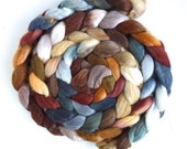 Merino/ Silk Roving (Top) - Handpainted Spinning or Felting Fiber, Standing Still