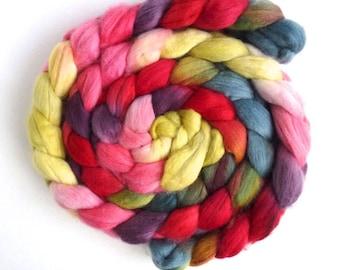 Finn Wool Roving - Hand Painted Spinning or Felting Fiber, Tuesdays at Three