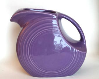 Vintage Homer Laughlin Fiestaware Lilac Pitcher 1993 Discontinued