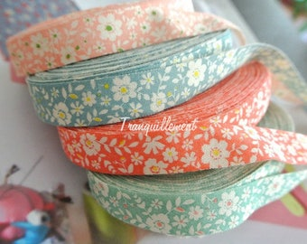 8 Yards Pink Green Blue Red White Spring Floral Flower Lace Prints Gift Decoration Wedding Scrapbooking Cotton Ribbon Trim Set 4 Colors