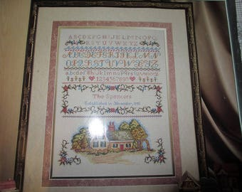 Elsa Williams Counted Cross Stitch Heritage Collection Embroidery Kit The Cottage Sampler 03215
