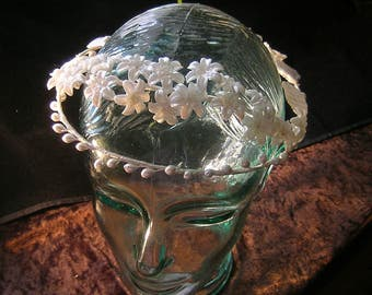 WeDDing Crown Wax Flowers  Tiara STEPHANOTIS