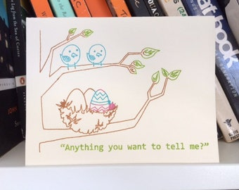 Anything You Want to Tell Me - Funny Easter Card