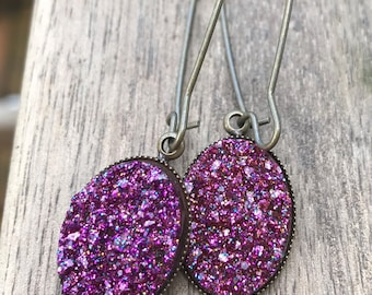 Dangly Druzy earrings