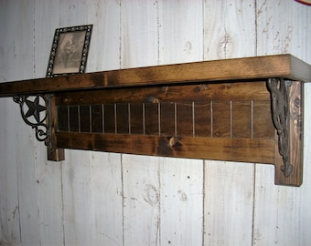 Country Western Star Bracket Shelf Handmade Furniture Wall Decor