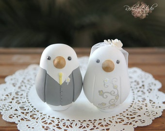Love Bird Wedding Cake Topper - Medium