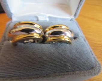 Gold silver hoop clips