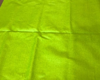 Lime Green fabric | Cotton Twill fabric Remnant