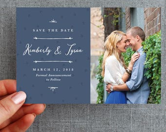 """50+ Save the date card, postcard, hand drawn details and pattern, """"Kimberly Style"""""""