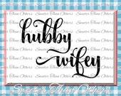 Hubby Wifey SVG, Wedding Svg, Wedding cut file, Dxf, Silhouette Cricut INSTANT DOWNLOAD,  Bachelorette Party, Elegant, Wedding, Scal, Mtc