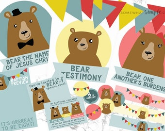 The Three Bears Of Baptism Printable Kit - 8 Is Great