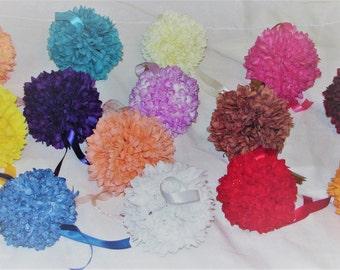 Kissing Balls for weddings mums 5 inch Wedding Flower Decoration wedding pew decorations wedding flower ball wedding centerpiece silk flower