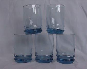 Vintage Anchor Hocking Saturn Blue Juice Glasses – Set of 5