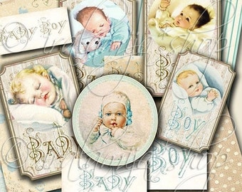 SALE BABY BOY collage Digital Images -printable download file-