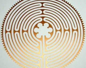 Chartres Cathedral labyrinth copper vinyl decal