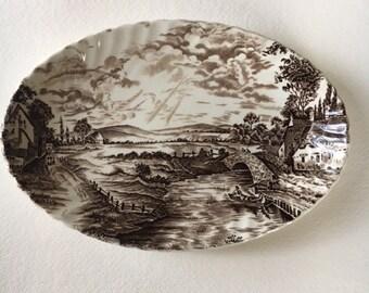 Vintage Ridgway Plate-Country Days, Vintage English plate, Ridgway Plate, Ridgway Dish