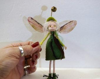ooak poseable tinkle bell PIXIE fairy ( #4 ) polymer clay art doll by DinkyDarlings   faerie faery angel