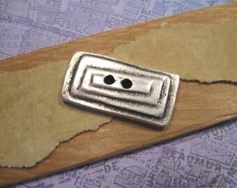 Rectangular Button  in Pewter from Mykonos