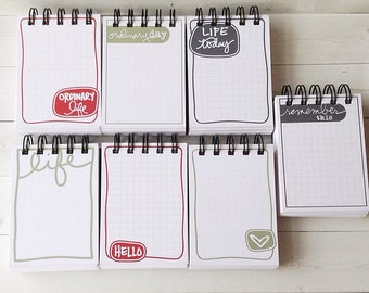 JOTTER NOTEPADS Journaling Cards recycled into a Notepad