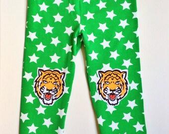 Star Leggings. Tiger Leggings. Girls Leggings. Tigers on Knees. Animal Leggings. Toddler Leggings. Boys Leggings. Kids Leggings.