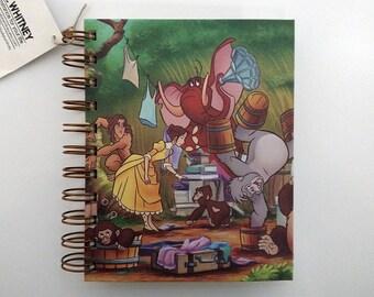 Blank Notebook– Journal – Tarzan – Old Book Page  – Tarzan & Jane – Autograph Book – Pocket Notebook – Sketchbook – Back to School