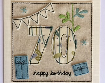 Age 70 - 70th Happy Birthday Card