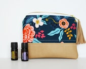 Essential Oil Case Made with Rifle Paper Co. Fabric *READY TO SHIP (essential oil bag, essential oil pouch, bag for essential oils)
