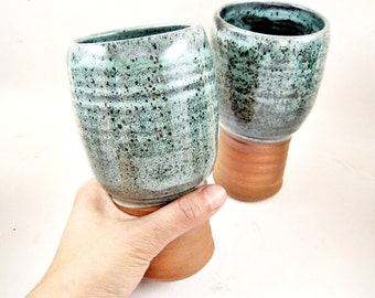 IPA glass set, beer mugs, Hand Crafted beer mugs, pottery IPA glass, Christmas gift to beer geek - In stock