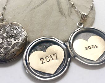 Personalized Graduation gift, 2017 graduate, name necklace, Heart locket Personalized jewelry, Personalized name necklace