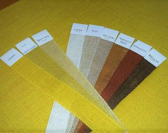 CANARY YELLOW -  Burlap Fabric By the Yard - 58 - 60 inches wide