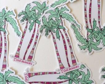 Palm Tree Vinyl Stickers Ishkabibbles