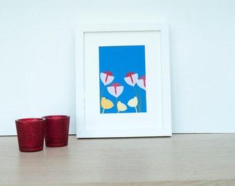 Spring Flowers Bloom - Fine art print, spring flower, tulips, Poppy flowers
