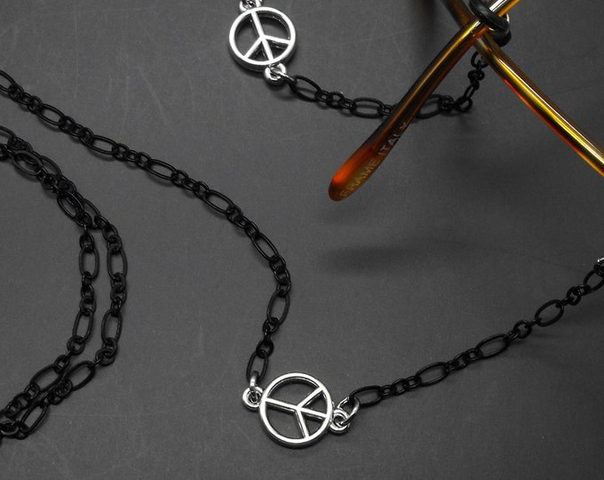 Peace Sign Eyeglass Chain Holder Peace Jewelry Eye Glass Lanyard