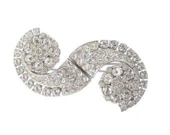 Art Deco Coro Duette, 1918 Antique Trembler, Fine Vintage Art Deco Jewellery, Antique Wedding Jewelry