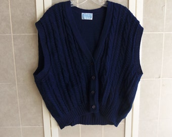 Vintage Pendleton Dark Blue Men's Sweater Vest, Size 3X