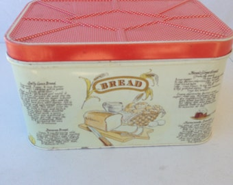 Vintage 1960's/70's Metal Bread Box