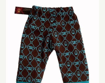 ON SALE 40% OFF Anchor Baby - Skull and Crossbones - Baby Boy Pants - Skull Baby Clothes -  Sizes newborn to 18m