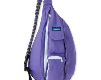 Monogrammed Kavu Rope Bags - Imperial Purple - Great gift for College, Teens, Women, Outdoors Satchel Crossbody Tote