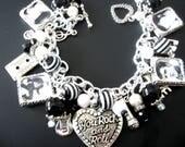 Elvis Presley Charm Bracelet, Elvis Bracelet, Elvis Jewelry, Rock and Roll Jewelry, Rock and Roll Bracelet, Music Jewlery Bracelet