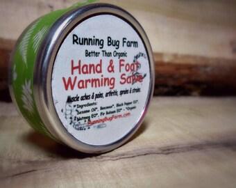 Organic Warming Hand Foot Salve Natural Muscle Rub Arthritis Salve Hand Salve Arthritis Ointment Muscle Salve Workout Non GMO Skin Salve