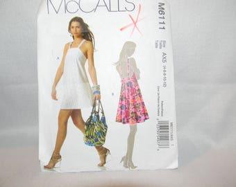New Uncut McCall's Pattern 6111 Very Cute Dresses